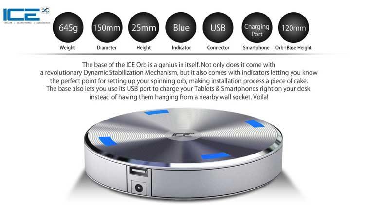 ICE Orb enceinte Bluetooth flottante